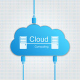 Vector cloud computing concept. Modern design temp Stock Images