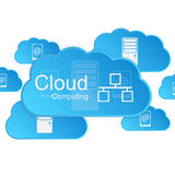 Vector cloud computing concept. Modern design temp Royalty Free Stock Image