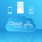 Vector cloud computing concept. Modern design temp Royalty Free Stock Photo