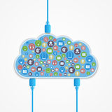 Vector cloud computing concept. Stock Images