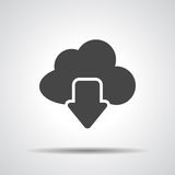 Vector cloud computing download icon, Stock Photo