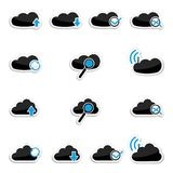 Vector cloud computing icon set Royalty Free Stock Photography