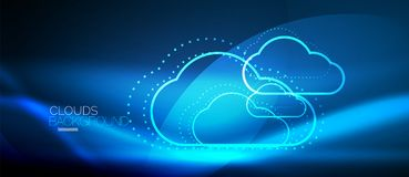 Vector cloud computing, storage concept stock illustration