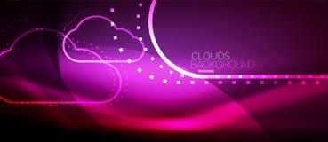 Vector cloud computing, storage concept vector illustration