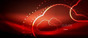 Vector cloud computing, storage concept royalty free illustration
