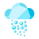 Vector cloud with diamond rain Royalty Free Stock Image