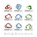 VECTOR : CLOUD GRADIENT LOGO DESIGN Royalty Free Stock Photo