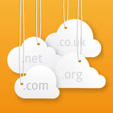 Vector cloud hosting illustration Royalty Free Stock Images
