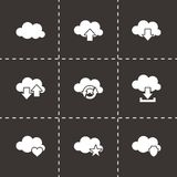 Vector cloud icon set Stock Images