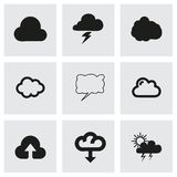 Vector cloud icon set Royalty Free Stock Photo