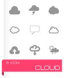 Vector cloud icon set Stock Photography