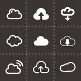 Vector cloud icons set Stock Photo