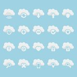 Vector cloud icons set Stock Images