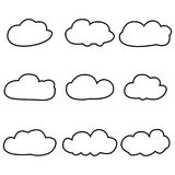 Vector cloud icons set. The Vector cloud icons set Royalty Free Stock Image