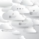 Vector cloud infographics background elements Stock Photo