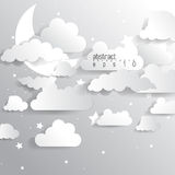 Vector cloud infographics background elements Royalty Free Stock Image