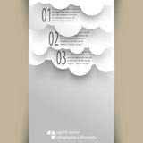 Vector cloud infographics background elements Royalty Free Stock Photography