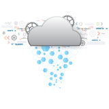 Vector cloud internet transfer technology Royalty Free Stock Photography