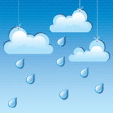 Vector cloud and rain drops Royalty Free Stock Images