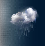 Vector cloud and rain Stock Photo