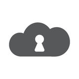 Vector cloud security icon. Secure connection. Royalty Free Stock Photo