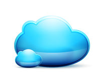 Vector cloud space conceptual icon Royalty Free Stock Photography