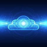 Vector cloud technology concept background, illustration Stock Image