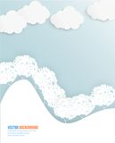 Vector cloud and tree. Abstract web vector Stock Images