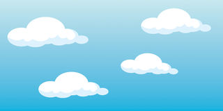 Vector clouds royalty free illustration