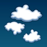 Vector clouds. Stock Photos