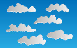 Vector clouds. Vector illustration of clouds - collection Royalty Free Stock Image
