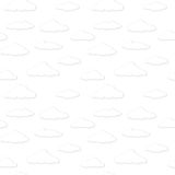 Vector clouds. Black and white seamless background Stock Image
