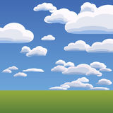 Vector of the clouds on blue sky Royalty Free Stock Image