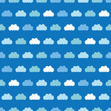 Vector Clouds Blue Sky Seamless Pattern Royalty Free Stock Images