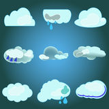 Vector clouds collection Stock Photos
