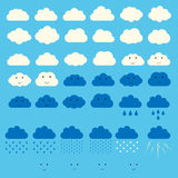 Vector clouds collection Royalty Free Stock Photography