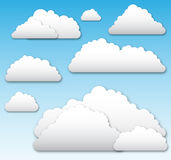Vector Clouds Stock Images