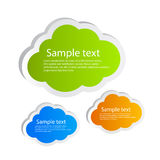 Vector clouds. Information clouds, vector clip art Stock Photo