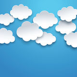 Vector clouds Royalty Free Stock Photos
