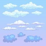 Vector clouds. Royalty Free Stock Photography