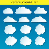 Vector clouds set 1 Royalty Free Stock Photography