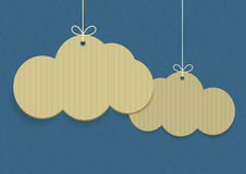 Vector clouds shaped shopping tags Stock Images