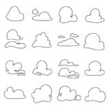 Vector clouds shapes Stock Photos