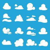 Vector clouds shapes Royalty Free Stock Image