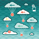 Vector Clouds - Sky Concept. Clouds vector background concept for design works Royalty Free Stock Images