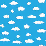 Vector clouds on sky - seamless texture Stock Images