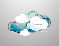Vector clouds technology design Royalty Free Stock Photography
