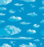 Vector clouds texture Stock Photo