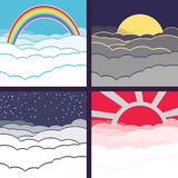 Vector cloudy background Stock Images
