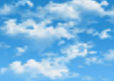 Vector cloudy sky. Vector cloudy blue sky. Abstract nature background Royalty Free Stock Photography